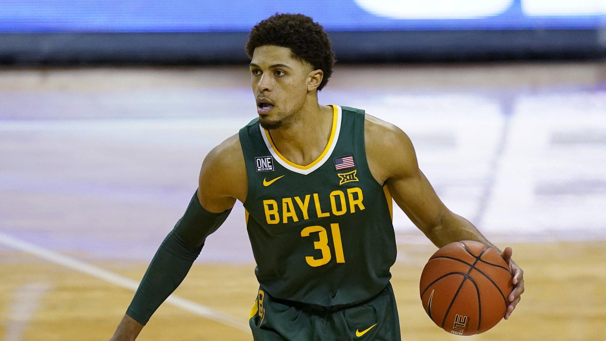 Baylor guard MaCio Teague (31) during an NCAA college basketball game against Texas, Tuesday, Feb. 2, 2021, in Austin, Texas. (AP Photo/Eric Gay)