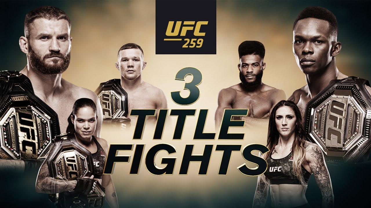 Three Title Fights are on Tap for Saturday's Stacked UFC 259