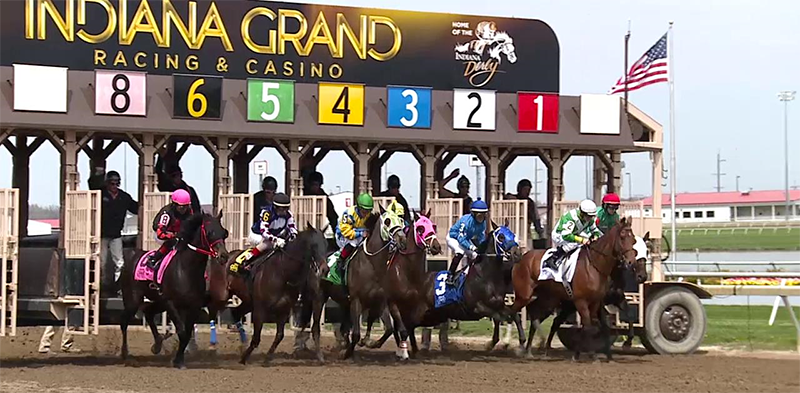 Both the Empire and Hoosier Heartland stakes will be run on what looks like a wet day at Indiana Grand