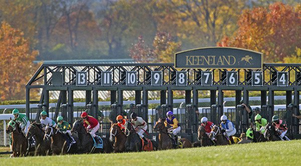 This weekend Keeneland debuted the all turf pick 3 wager.
